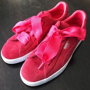 🔥HP PUMA Suede Heart Bubble Valentine Red Sneaker
